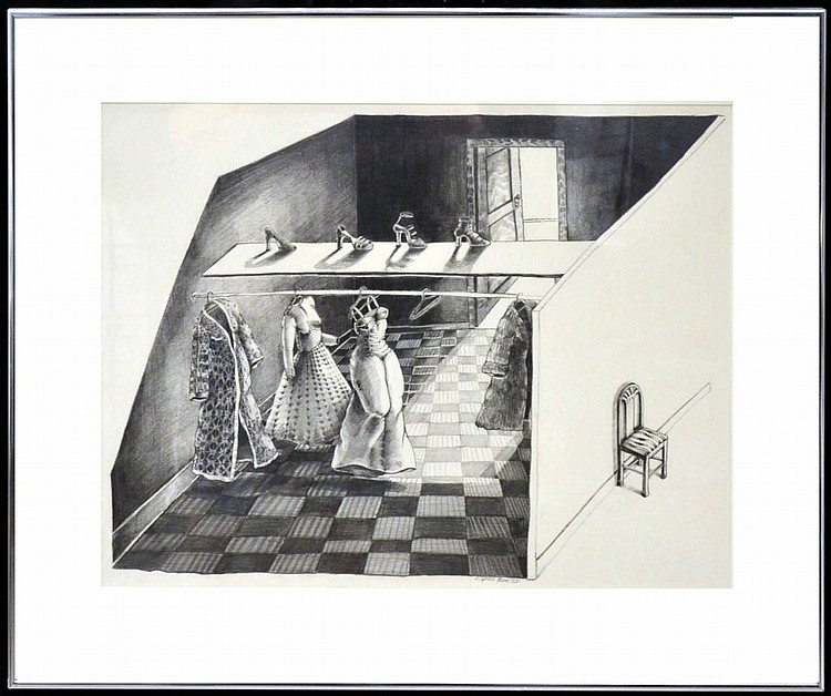 Eleanor Spiess-Ferris Signed Pencil Drawing,