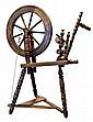Antique Oak Spinning Wheel
