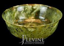 Carved Jade Bowl w/ Original Case
