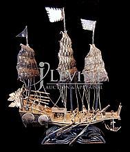 Silver Asian Sailing Ship