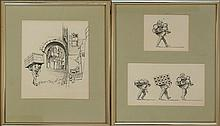 Michael Allen Hampshire (1933-2013) Hamal Porter Drawings