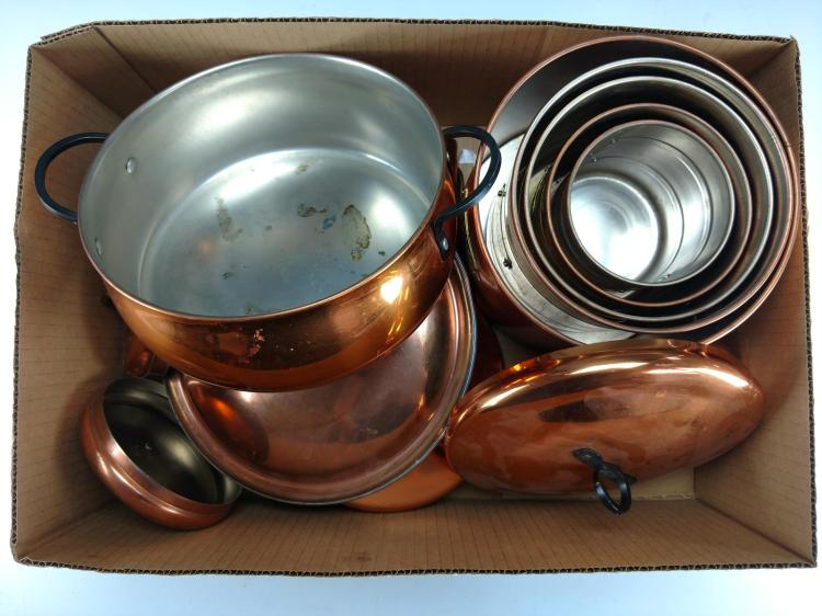 miscellaneous copper kitchen accessories lot
