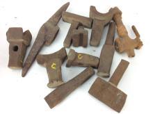 11pc. Iron Mallets, Picks, & Hammer Tool Heads