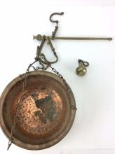 20th C. Hammered Copper & Brass Scale