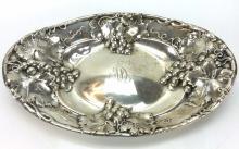 19th C. Mauser Sterling Silver Grape Vine Dish
