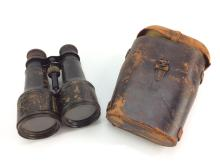 Early 20th C. Leather Accent Binoculars w/ Case