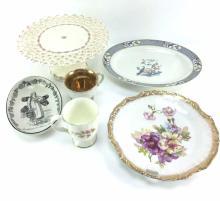 Assorted Porcelain Platters & Compote