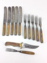 Bone Handle Knives & Forks