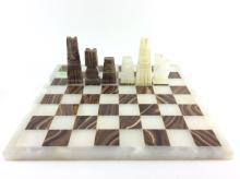 Aztec Quartz & Marble Chess Board w/ Pieces