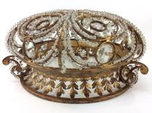 Victorian Style Metal & Crystal Chandelier Cover