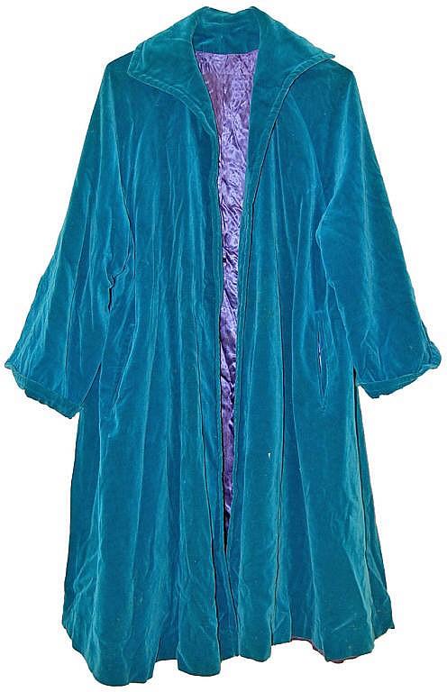 Teal Velvet Coat