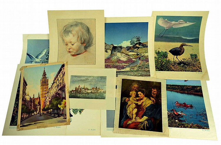 Collection of 14 prints, PP Rubens, Don Bleitz.