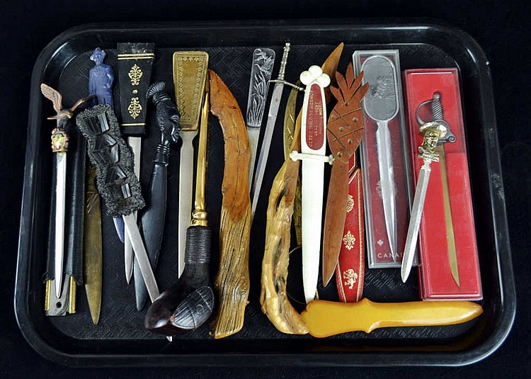 Large collection of letter openers. W.B. Cody,