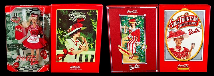 NEW Coca Cola Barbie Doll Lot