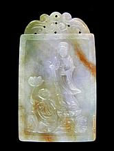 Double-Sided Carved Jade Talisman