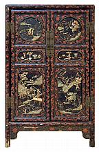 Chinese Ivory Lacquer Cabinet c Early 19th Century