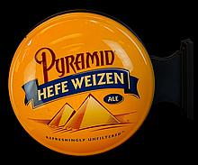 Lighted Pyramid Hefe Weizen Ale Advertisement