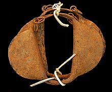 PAIR Antique Iron Slave Rattle Bracelet Lot