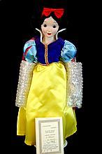 Ltd. Ed. Disney Snow White Golden Anniversary Porcelain Collectors Doll w/ Box