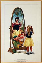 Charles Boyer Disney Snow White Gold Anniversary Poster c. 1987