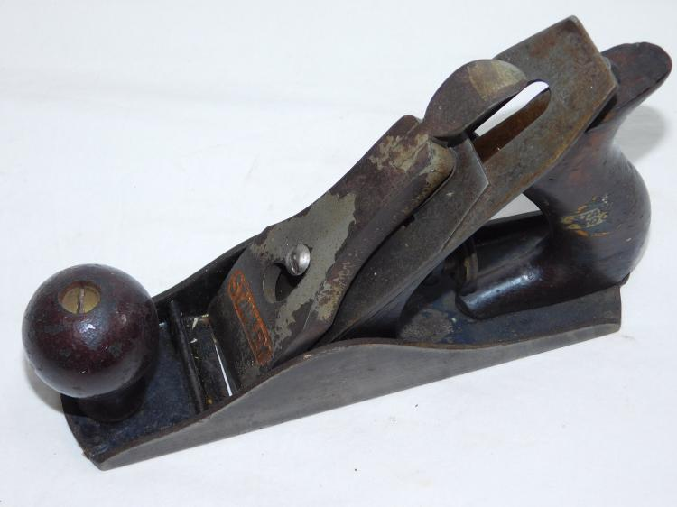 Stanley No 2 Smooth Sole Wood Plane With Sweetheart Blade
