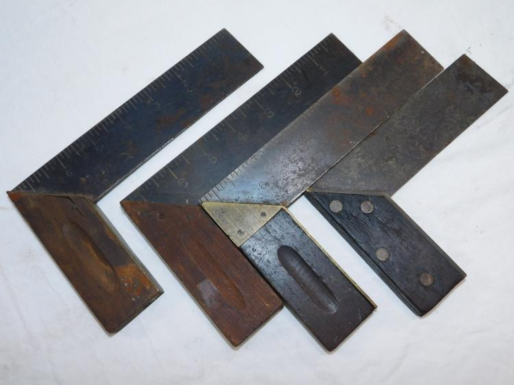 Lot Of 4 Antique Sohaco Southington Hardware Co Carpentry Squares