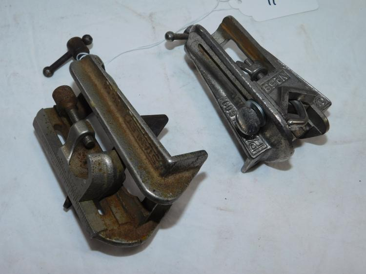 Lot Of 2 Stanley No 59 Dowelling Jigs With 6 Guides