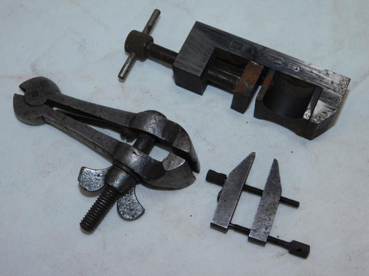 Lot Of Brown And Sharpe 752 Toolmakers Vise Lufkin 910A Miniature Machinist Parallel Clamp