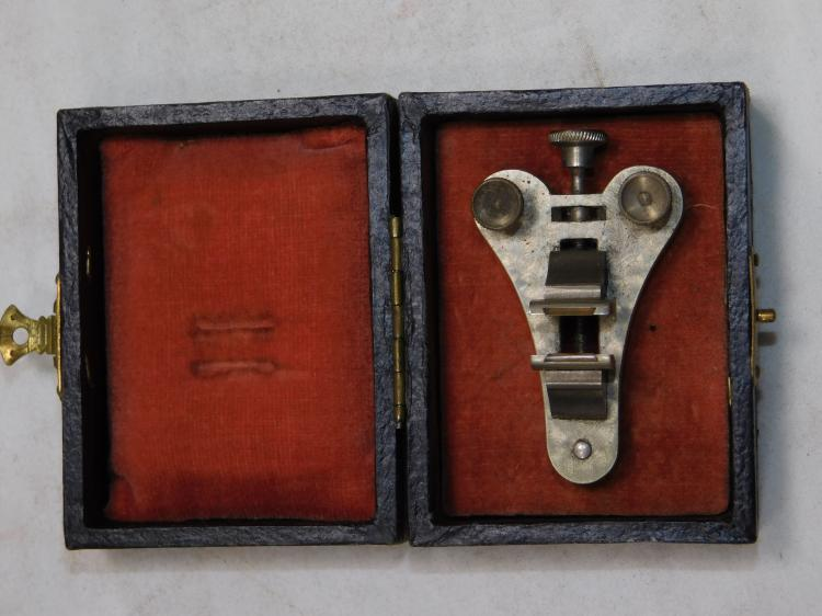 Antique German Precision Jewelers Tiny Vise In Case