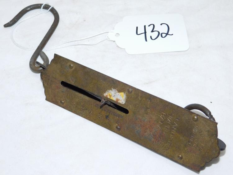 Vintage Landers Improved Balance Hanging Brass Scale