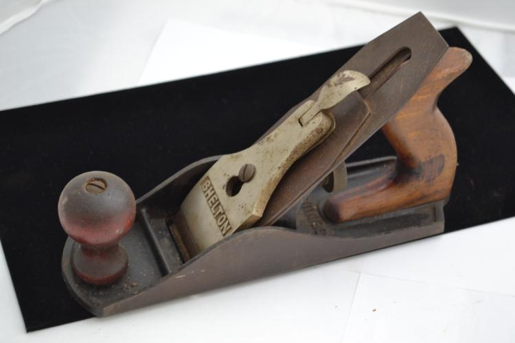 Shelton No 9 Wood Plane With Indian On Blade