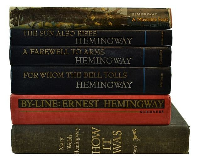 Lot of 6 Hemingway books