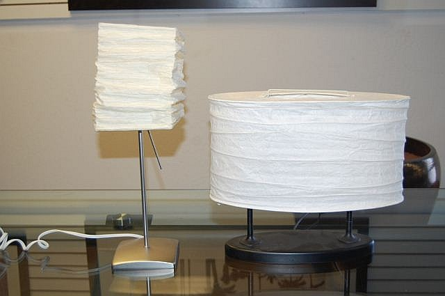 Pair of Paper table top lamps