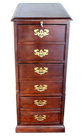 Sligh Furniture Co. 3 drawer file cabinet,