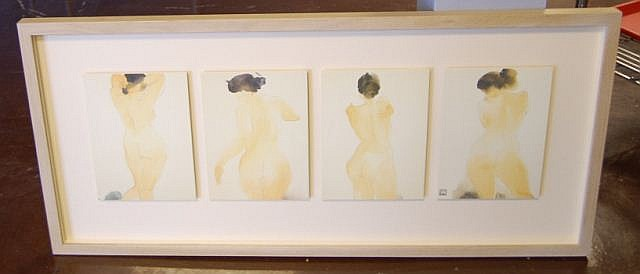 Signed Framed Naked Ladies Wall Art
