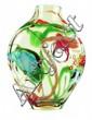 Art Glass Vase, 13.75