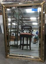 Gold Gilted Mirror Accent Framed Beveled Mirror