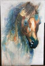 Horse Portrait Mixed Media