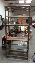Metal Bamboo Style Shelf