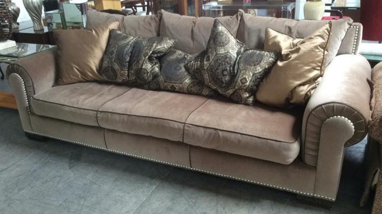Velour Bentley Sofa By Marge Carson