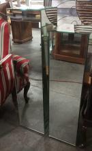 2Pc. Paneled Mirror Pedestals