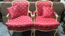 2Pc. Custom Bee Upholstered Occasional Chairs