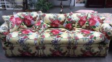Floral Upholstered Pillow Backed Sofa