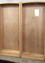 2Pc. Quality Craft Natural Pine Bookcases Lot #1