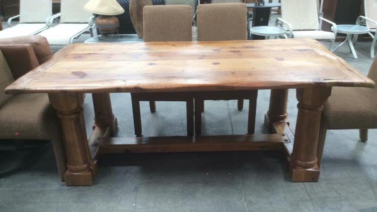 Ralph Lauren Rustic Wood Dining Table W 6 Chairs