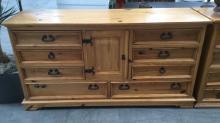 Rustic Natural Wood Dresser