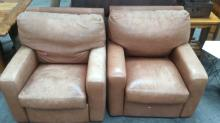 2Pc. Robb & Stucky Leather Express Recliners