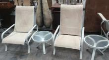 4Pc. Patio Reclining Chairs & Tables