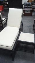 2Pc. Patio Chaise Lounge & Side Table Lot #2