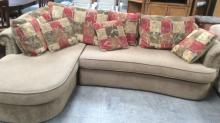 2Pc. Nail Head Accent Sectional